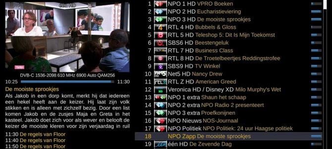 Kanalenlijst Hans van 21 april 2018